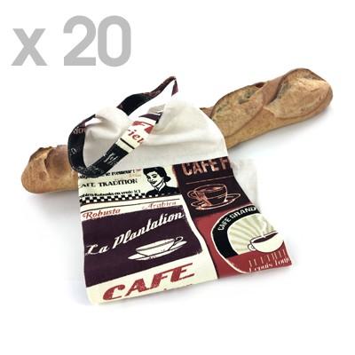 Lot de 20 sacs à pain